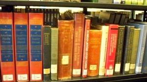 Genealogy Books -- surnames --  closeup horizontal