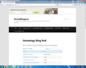 Geneabloggers Blog Roll