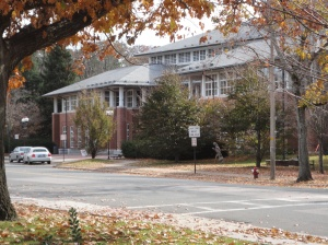 Newton Free Library in Autumn