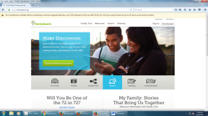 FamilySearch.org Website